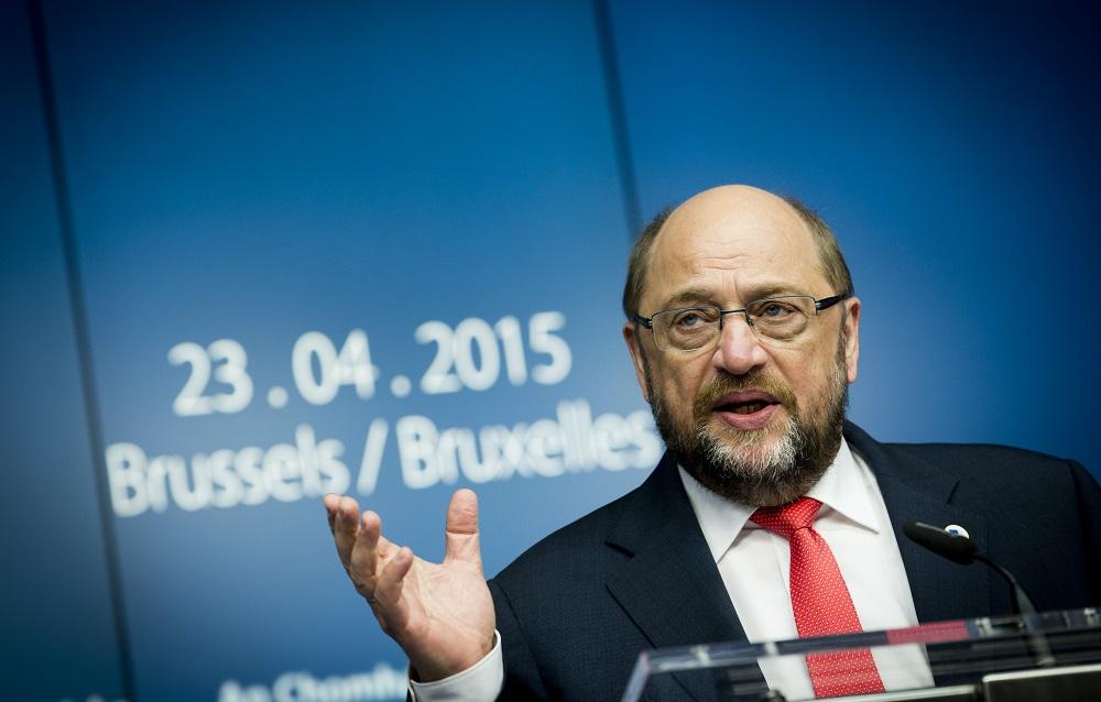 EU-Parlamentspräsident Martin Schulz beim EU-Sondergipfel am 23.04.2015 © European Union