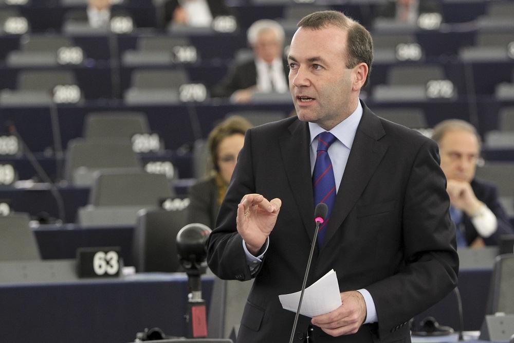 Manfred Weber (CSU) während der Plenardebatte im Europaparlament in Straßburg © European Union 2015 EP