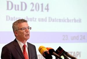 Bundesinnenminister Thomas de Maizière / Foto: Wolfgang Kumm/dpa