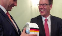 Witali Klitschko, Kiewer Bürgermeister und Gerd Müller, Bundesminister für wirtschaftliche Zusammenarbeit und Entwicklung (c) Frank Capellan / Deutschlandradio Hauptstadtstudio