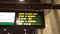Beim Generalstreik in Belgien fahren weder Metros, noch Busse, Bahnen oder Züge. Foto: Thomas Otto
