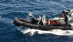 EU-Grenzschützer der Operation Triton © Frontex