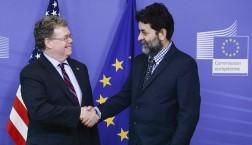 Die TTIP-Verhandlungsführer von EU (Ignacio Garcia Bercero) und USA (Dan Mullaney) v.l.n.r. © European Union 2015