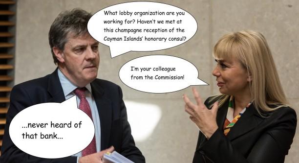 Jonathan Hill und seine Kommission-Kollegin Elżbieta Bieńkowska (v.l.n.r.) Original-Foto © European Union 2015