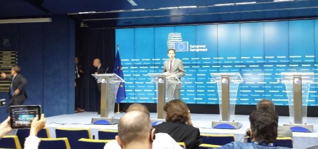 Pressekonferenz der Eurogruppe mit Jeroen Dijsselbloem. Foto: Thomas Otto