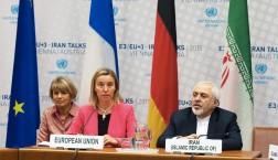 Die EU-Außenbeauftragte Federica Mogherini und der iranische Außenminister Mohammad Javad Zarif bei den Atomverhandlungen in Wien © European Union 2015