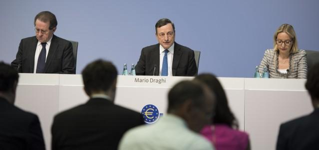 EZB-Chef Mario Draghi auf der Pressekonferenz in Frankfurt/Main © EZB 2015