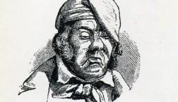 Der Deutsche Michel in einer Karikatur des Eulenspiegels von 1848 (gemeinfrei)