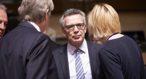 Bundesinnenminister Thomas de Maizière beim Treffen mit seinen EU-Kollegen © The European Union