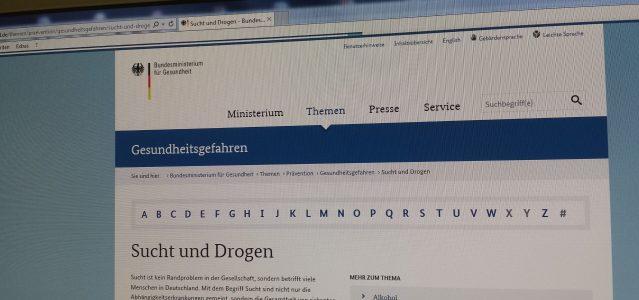 Der Besuch auf Webseiten, wie der des Bundesgesundheitsministeriums, darf gespeichert werden. Foto: Thomas Otto