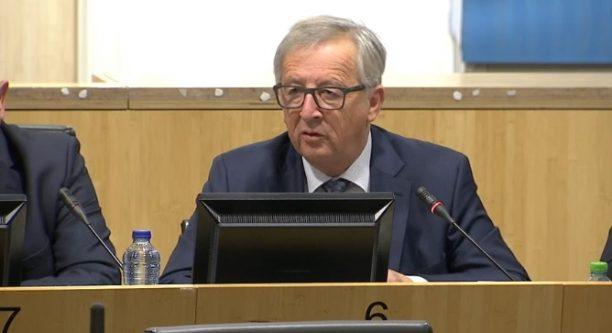 Jean-Claude Juncker bei seiner Rede vor Gewerkschaftern © European Union 2016